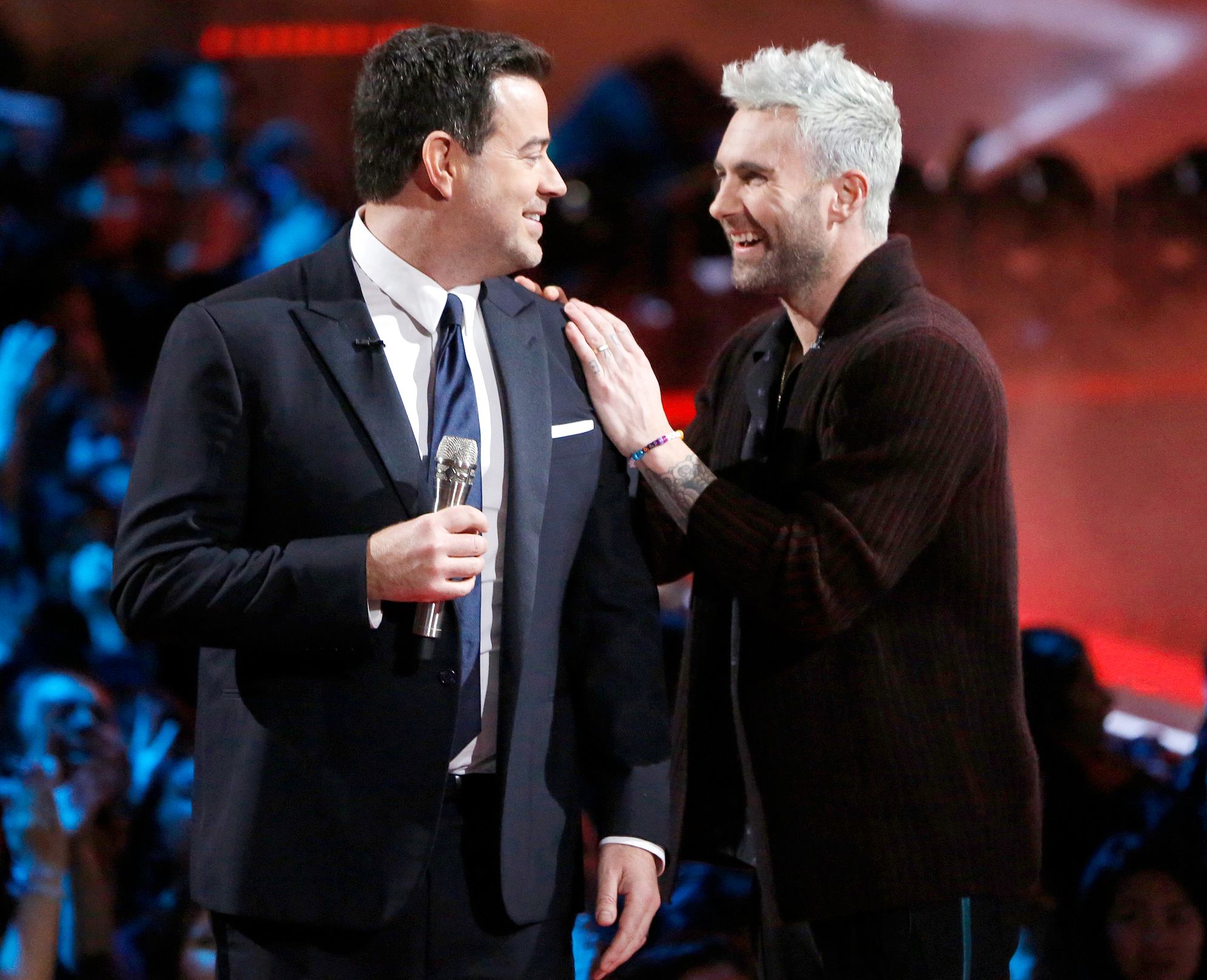 """Carson-Daly,-Adam-Levine - The Voice host, who has been on the series since it premiered in 2011, spoke about Levine's departure on Friday's episode of the Today show. """"After 16 seasons, Adam Levine, our beloved coach and friend, has decided to leave The Voice,"""" the TRL alum said."""