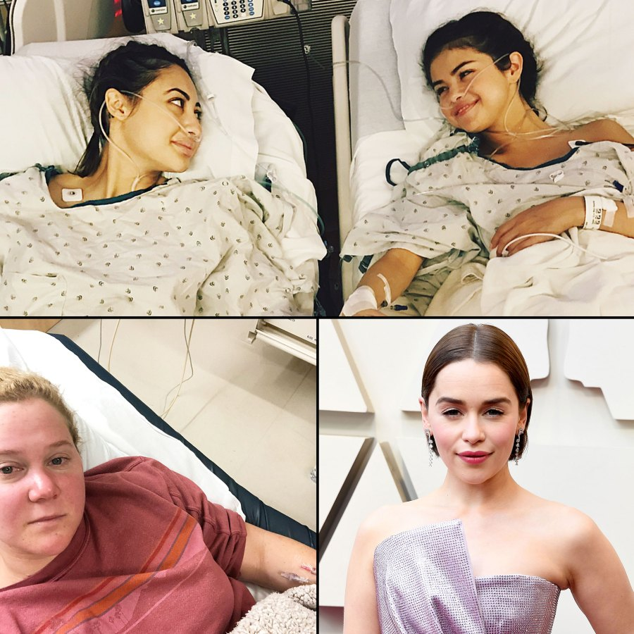 Celebrity Health Scares Selena Gomez Amy Schumer Emilia Clarke