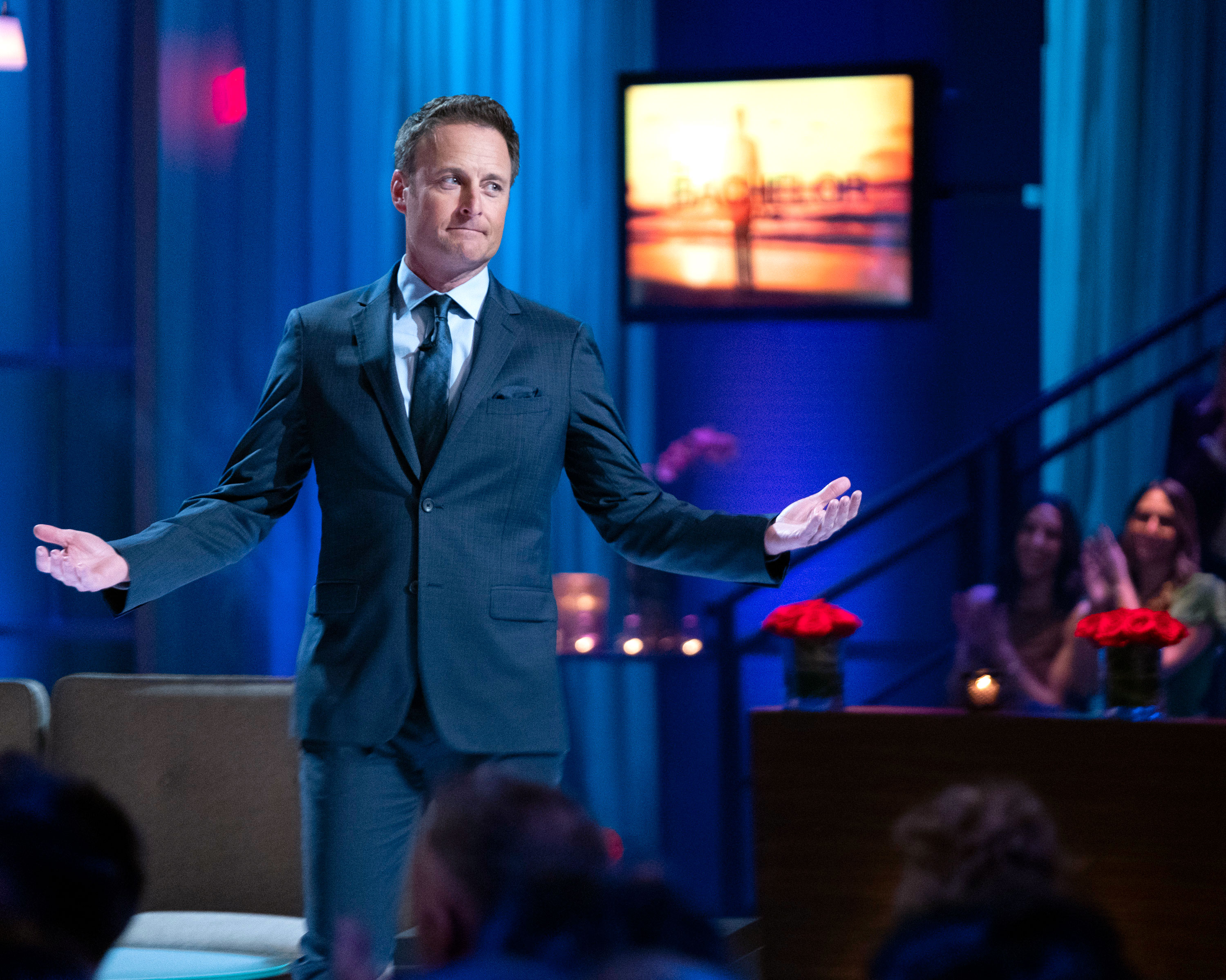 "Celebs Weigh in on Kelly Ripa vs 'The Bachelor' Chris Harrison on The Bachelor - The Who Wants to Be a Millionaire? host shared a link to Us Weekly 's article on Twitter and wrote: ""Look out #BachelorNation ⁦@KellyRipa⁩ is coming after you and your 'disgusting' Monday night habit."""