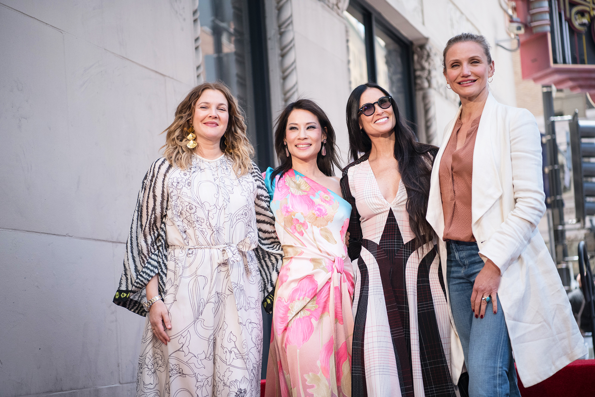 Charlie's Angels Cameron Diaz Drew Barrymore Demi Moore Lucy Liu Walk of Fame - Drew Barrymore, Lucy Liu, Demi Moore, and Cameron Diaz at Lucy Liu's Hollywood Walk of Fame star ceremony on May 01, 2019 in Hollywood, California.