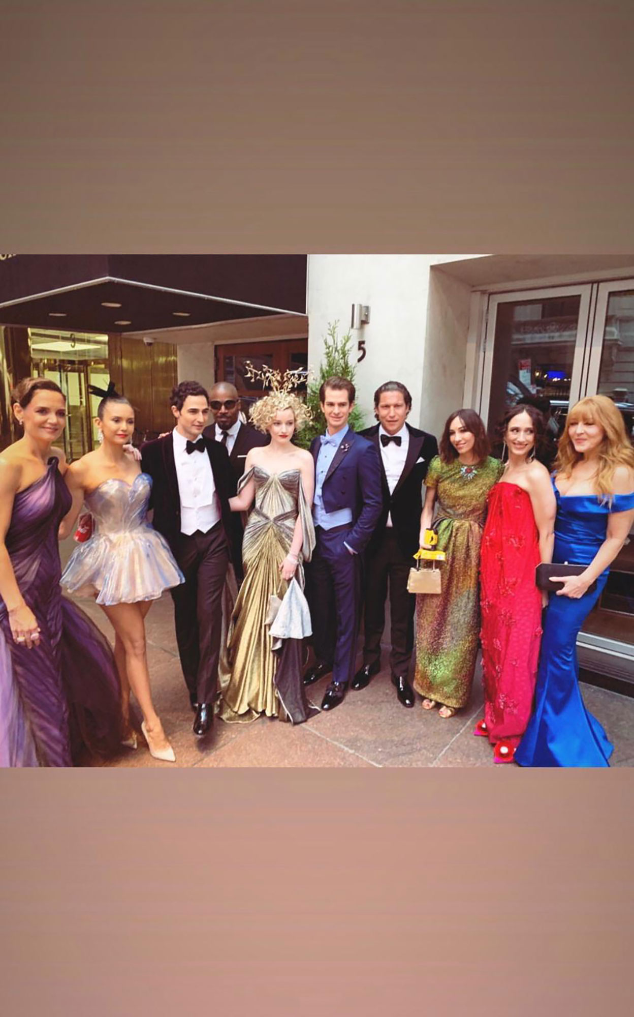 "A Behind-the-Scenes Look at Celeb Makeup Artist Charlotte Tilbruy's Met Gala - Before they hit the pink carpet at the Met, Tilbury posed with Posen and his posse for a group shot. ""And we're off,"" she concludes."