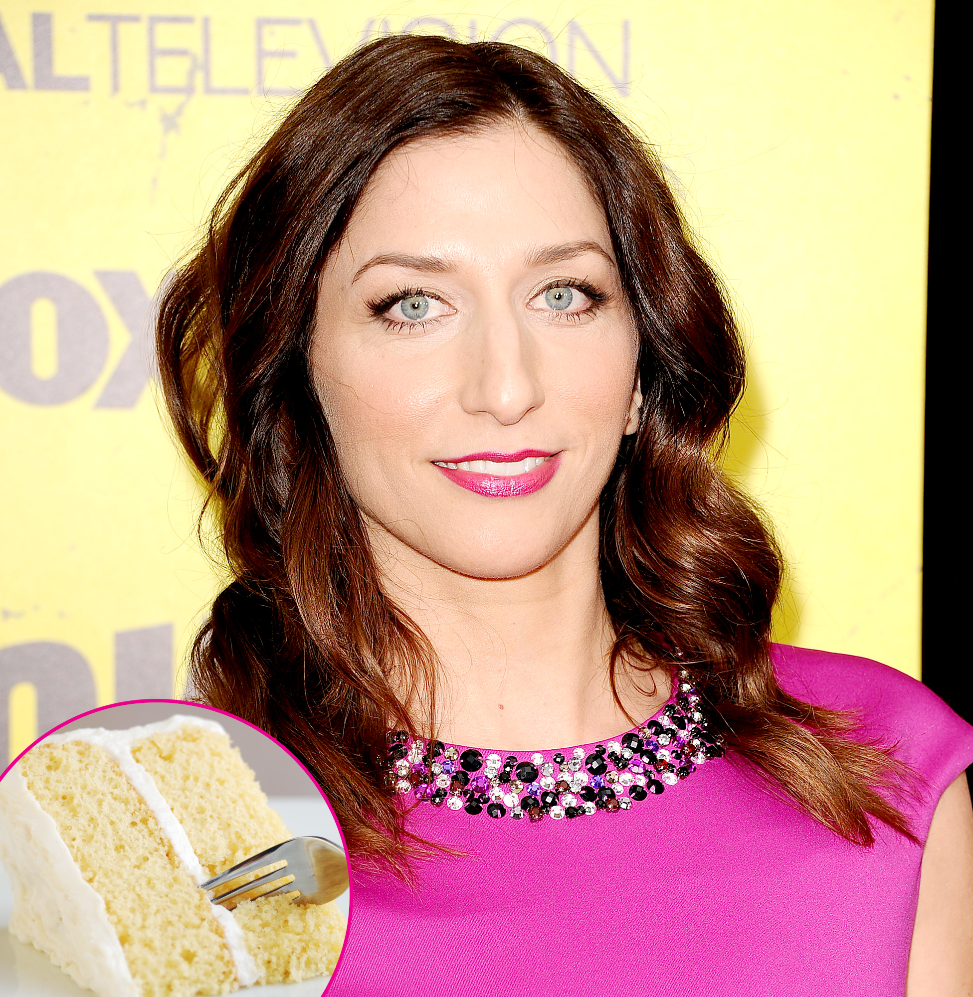 Chelsea-Pereti-Frosting - The Brooklyn Nine-Nine alum made her unusual method of eating cake known when she shared a photo of a dissected sweet treat on Instagram and Twitter in September 2018. The picture showed a piece of the confection with the cake parts eaten and only the frosting strategically left behind .