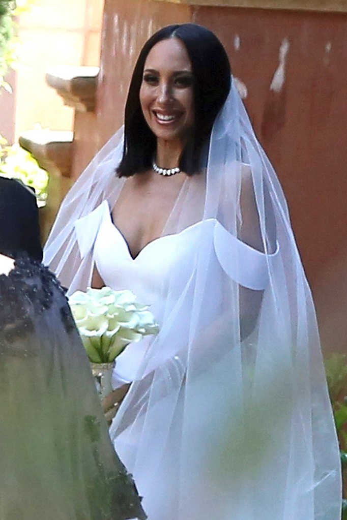 Cheryl Burke at her wedding to Matthew Lawrence