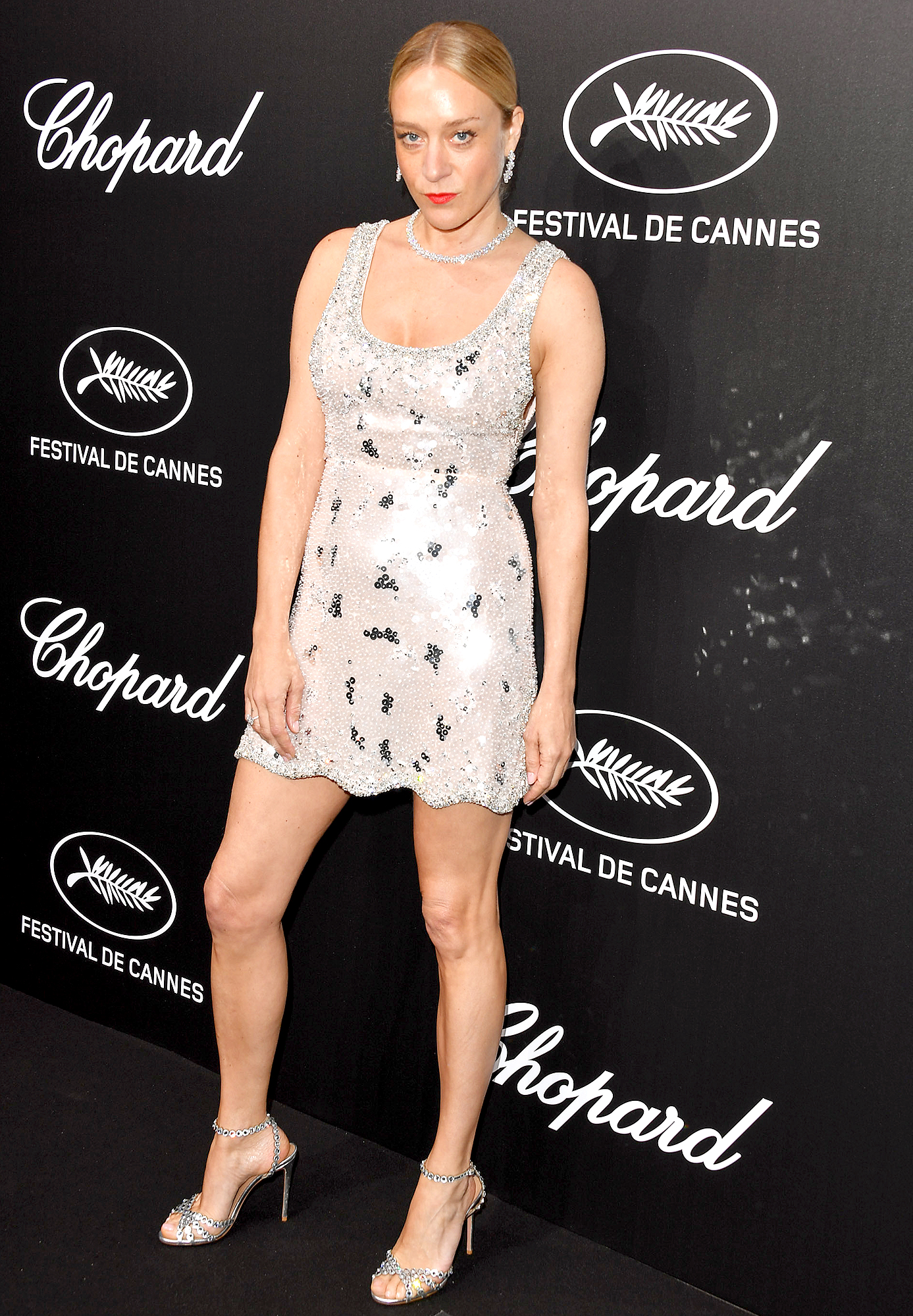 Chloe-Sevigny - Keeping things short and sweet, the actress opted for a sequined Miu Miu mini and Chopard bling at the jeweler's Trophy Event on Monday, May 20.