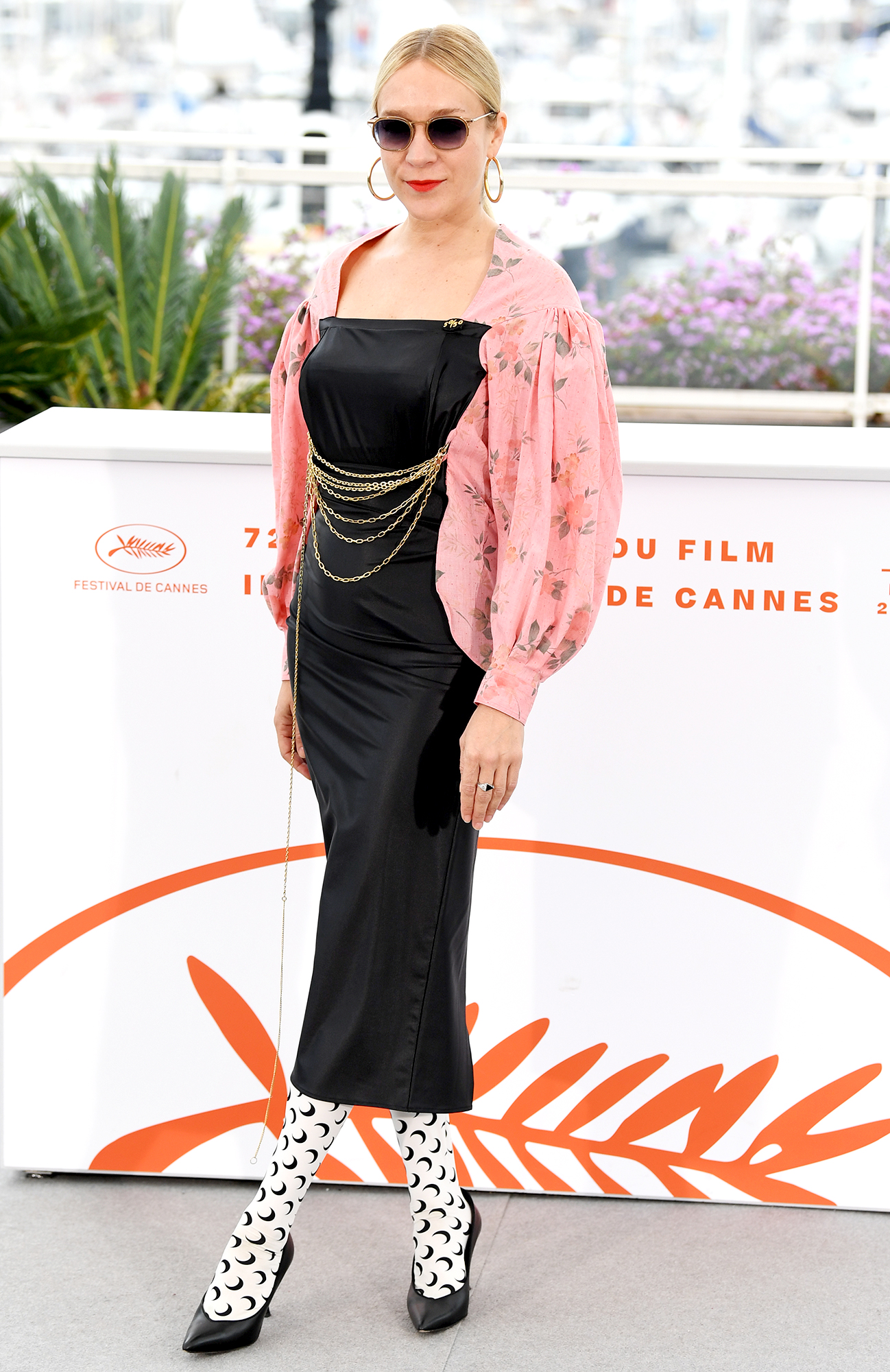 Chloe-Sevigny - The actress played with patterns in her black, white and pink look at the Les Realisateurs Des Courts Metrages En Competition photo-call on Friday, May 24.