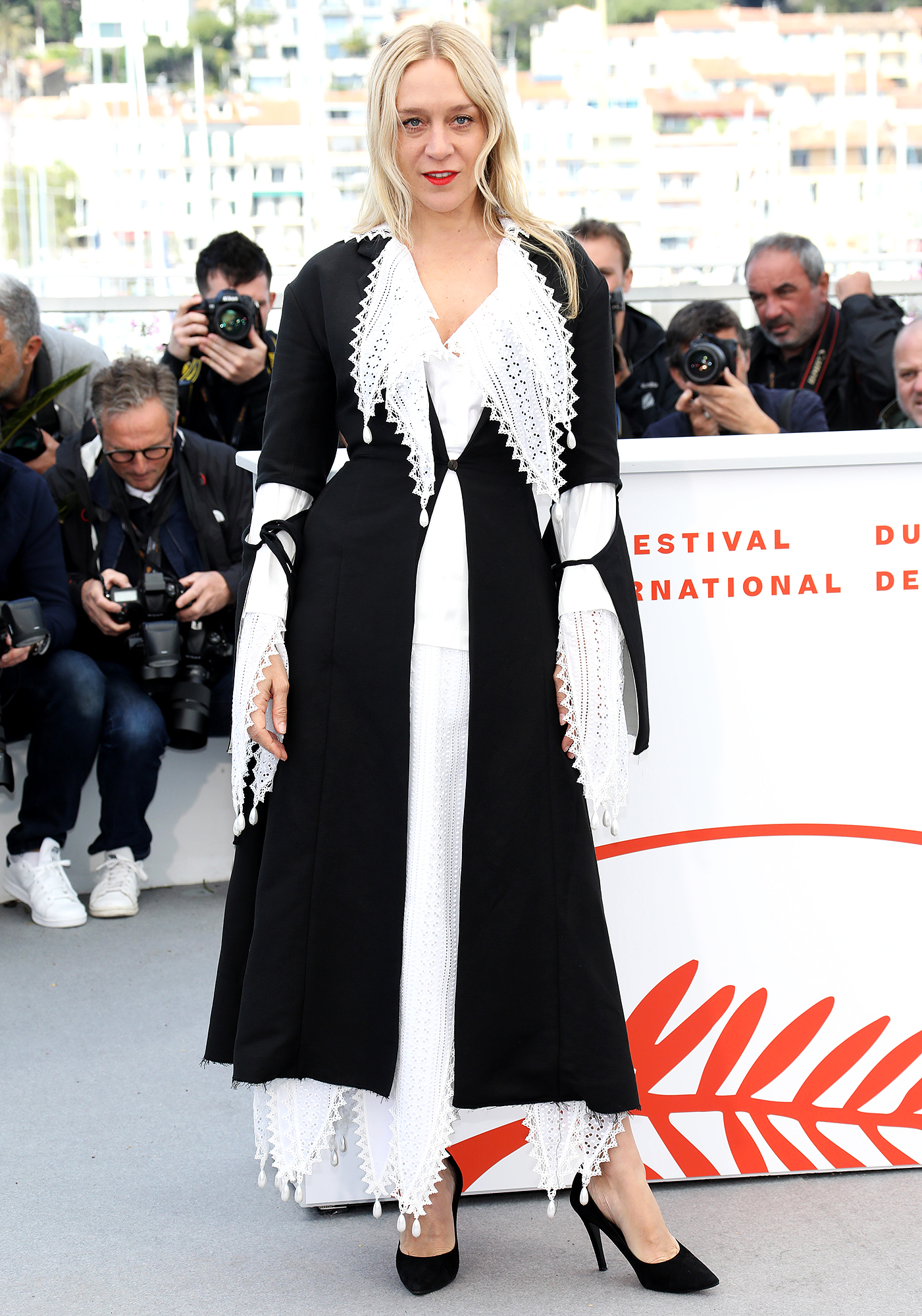 Chloe-Sevigny - Our favorite part of the Dead Don't Die star's black-and-white ensemble at the film's photo-call on Wednesday, May 15? Her bright red lip.