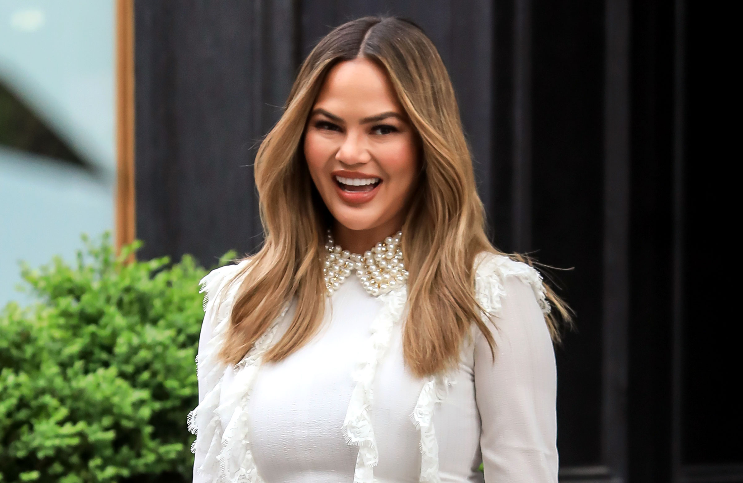 Chrissy Teigen Explains Personal Significance Behind New Cravings Pieces - Chrissy Teigen is seen at 'Today' Show on May 02, 2019 in New York City.