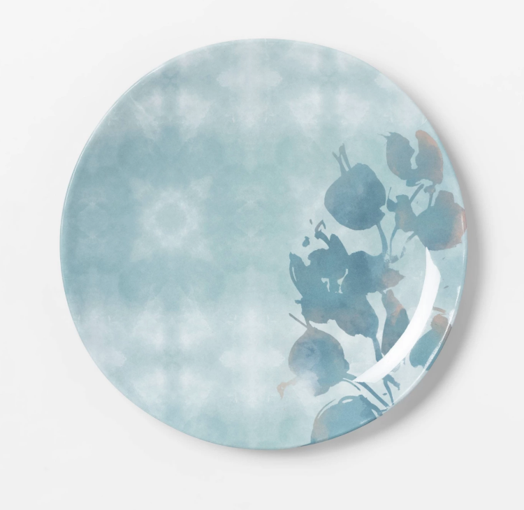 Melamine Dinnerware Collection Chrissy Teigen Explains Personal Significance Behind New Cravings Pieces - When Teigen's collection was released last year, the stoneware white dinner plates and bowls quickly became a customer favorite. The latest dish collection is made of melamine and comes in a dreamy blue hue with a floral pattern.