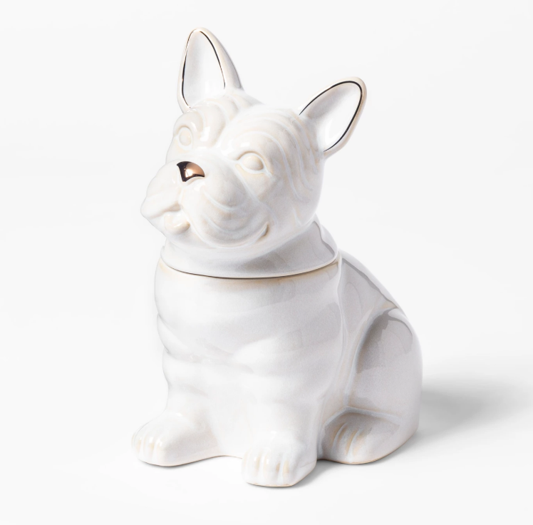 French Bulldog Cookie Jar White Chrissy Teigen Explains Personal Significance Behind New Cravings Pieces - If you're looking to add a bit of whimsy to your kitchen, this canine cookie jar might just too the trick. The stoneware piece was undoubtedly inspired by Teigen's own pooches: Pippa, Penny and Paul.