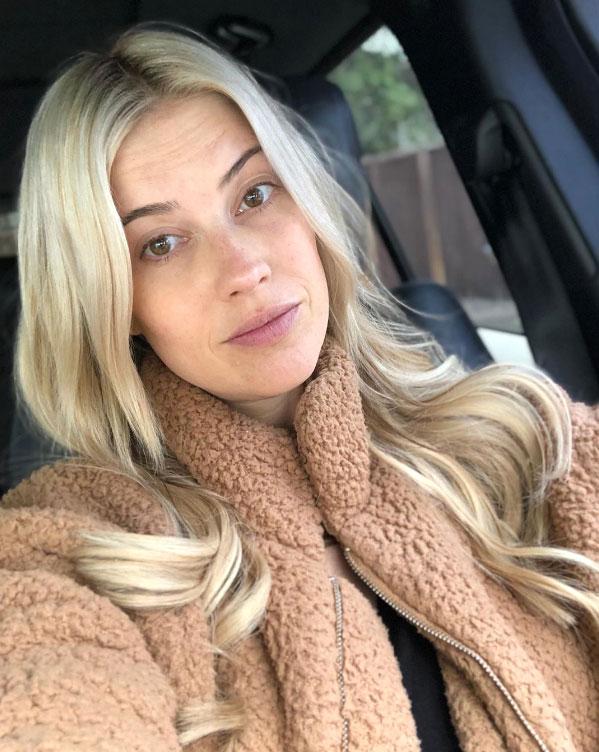 Christina Anstead Pregnant Makeup Free