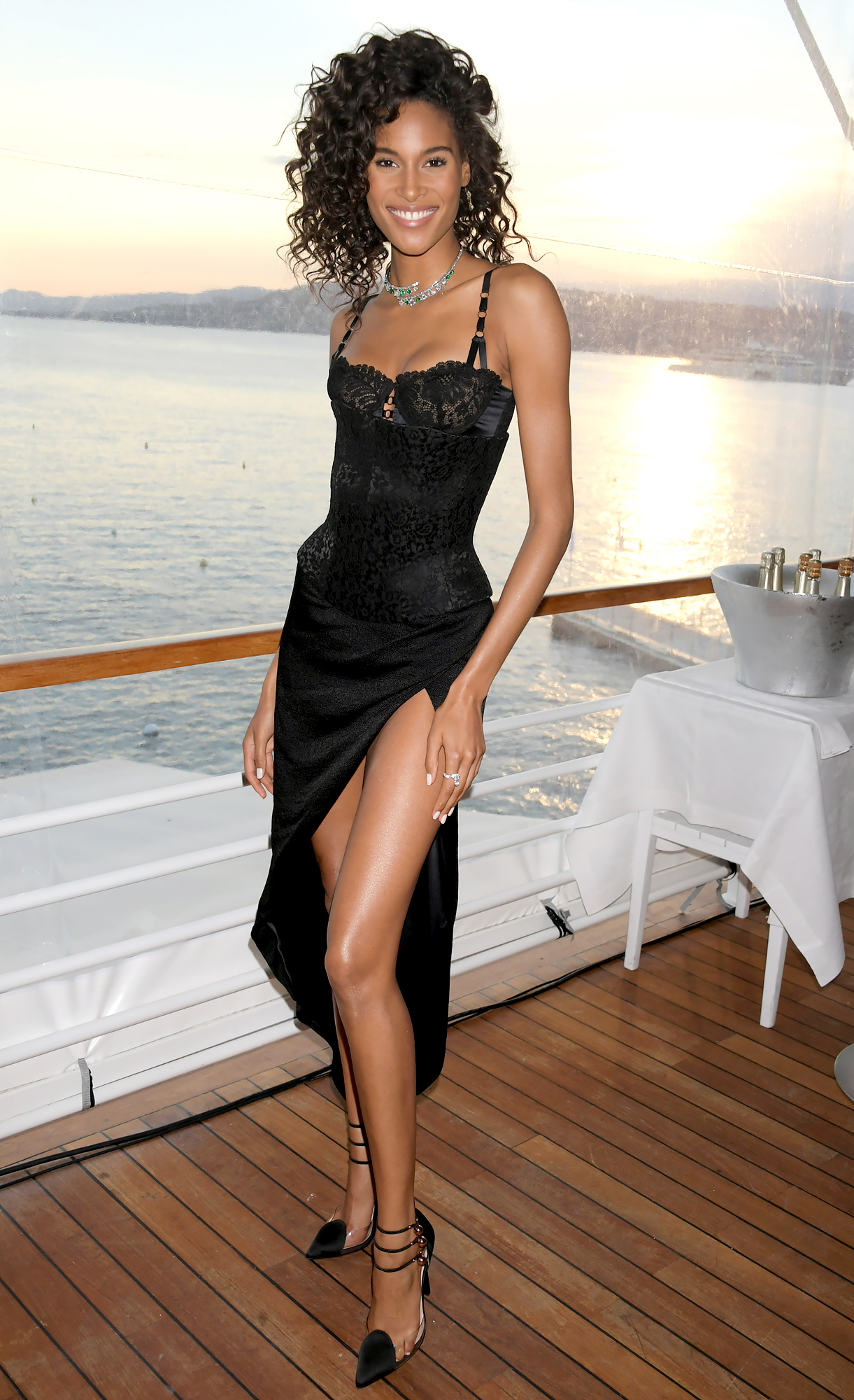 Cindy-Bruna - Our favorite part of the model's sexy LBD at the de Grisogono Gala Dinner on Tuesday, May 21?