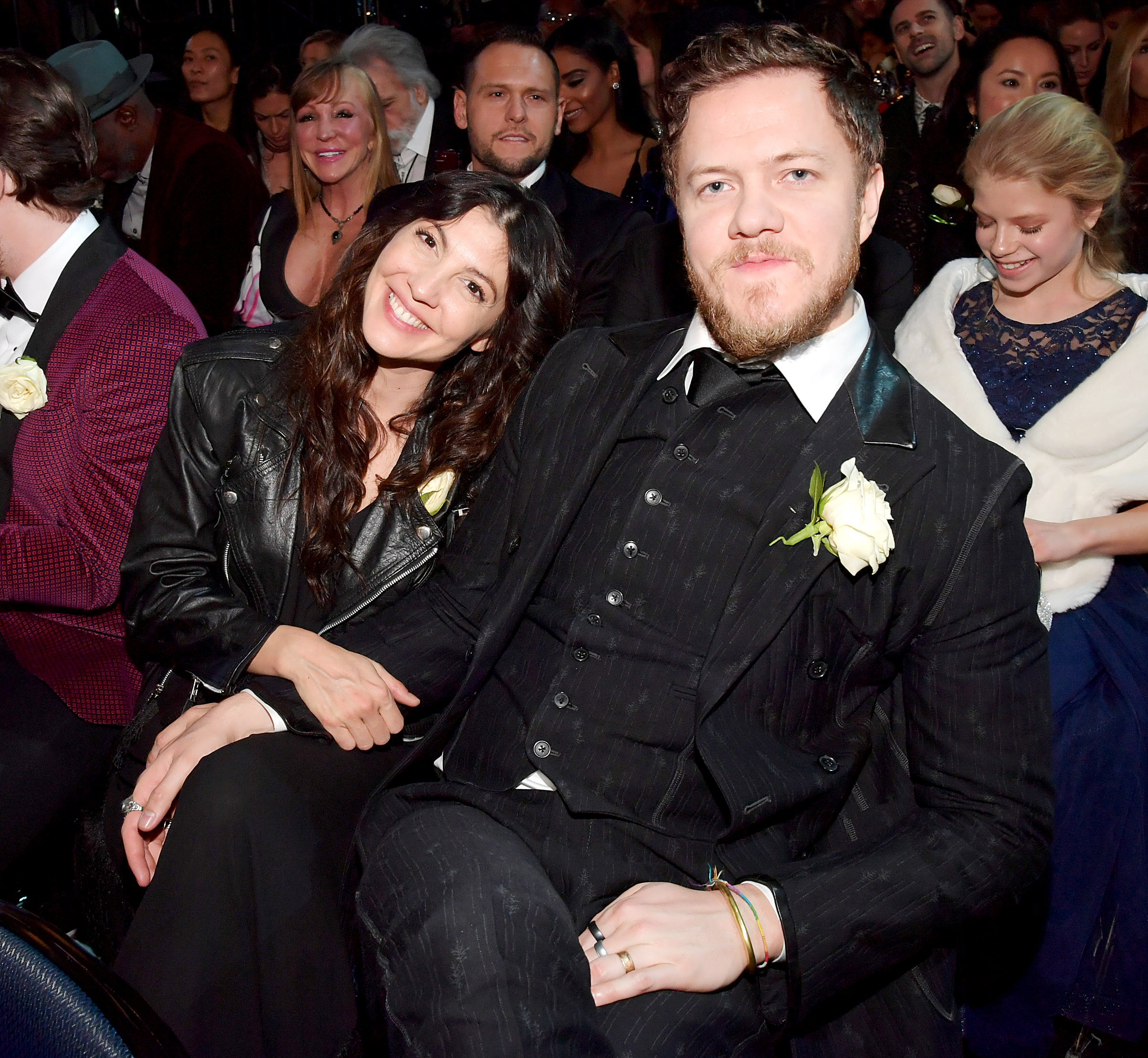 Dan Reynolds Split From Wife Made Them Stronger - Aja Volkman and Dan Reynolds attend the 60th Annual GRAMMY Awards at Madison Square Garden on January 28, 2018 in New York City.