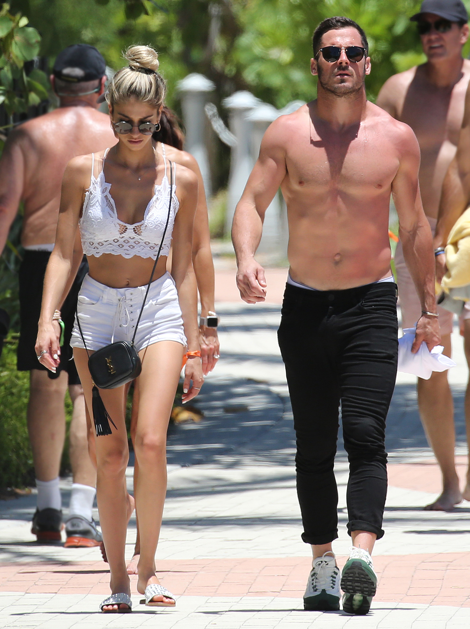 Danny Amendola With Mystery Blonde as Olivia Culpo Parties With Zedd - Danny Amendola takes a walk with a mystery blonde after having breakfast together in Miami on May 12, 2019.
