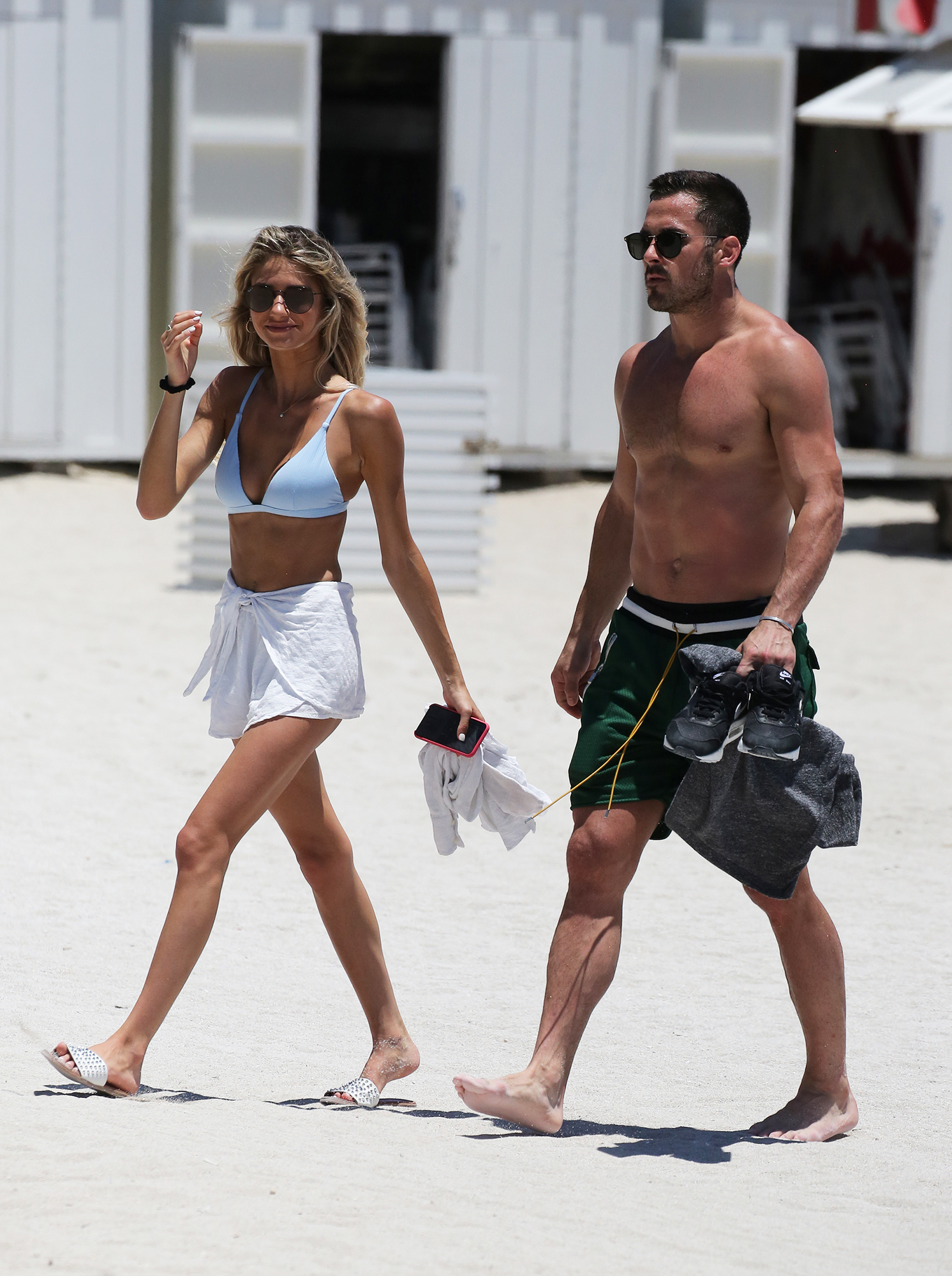 Danny Amendola With Mystery Blonde as Olivia Culpo Parties With Zedd - The duo seemed to charm each other during their beach day.