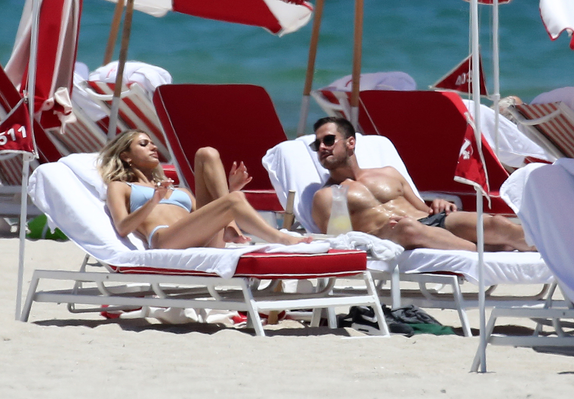 """Danny Amendola With Mystery Blonde as Olivia Culpo Parties With Zedd - """"Is this real life?"""" Culpo captioned a photo from her birthday bash while Amendola got his tan on at the beach."""