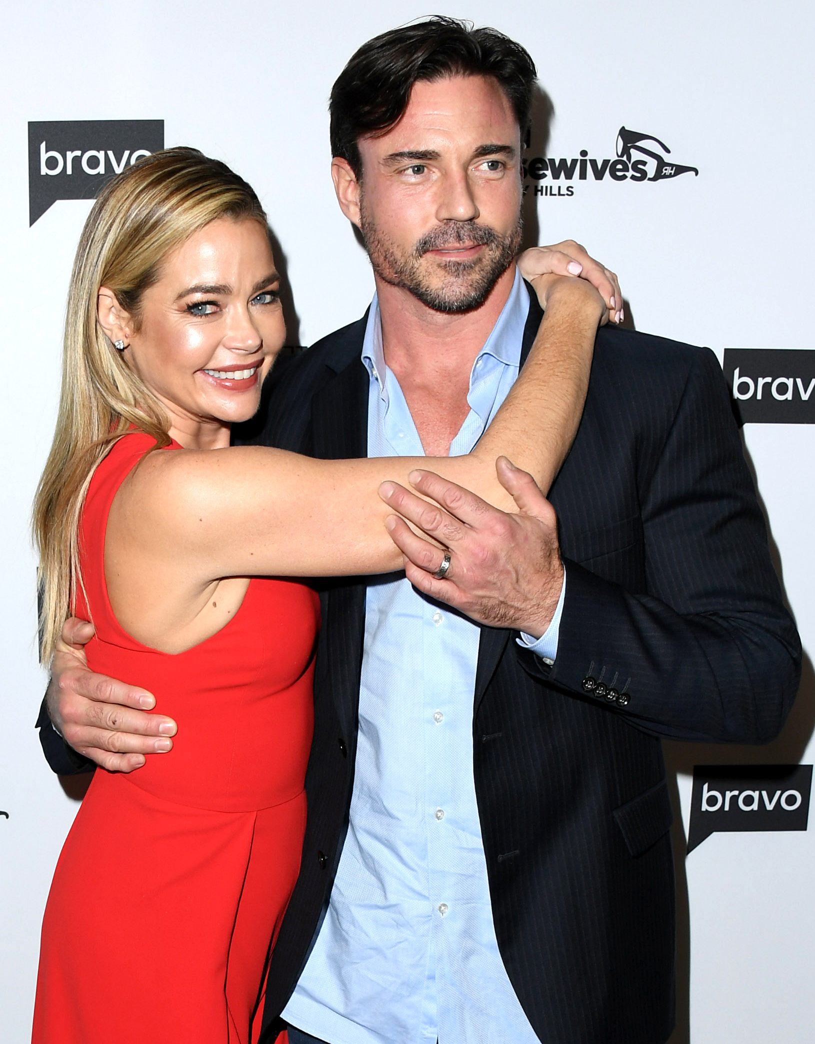 """Denise Richards Quotes About Husband Aaron Phypers - Richards was all too happy to brag about the fact that her man was packing below the belt to castmates Lisa Vanderpump and Kyle Richards during the March 12 episode of the Bravo hit. """"He offers a very good service, aside from his big penis. He has a very big penis,"""" she said."""