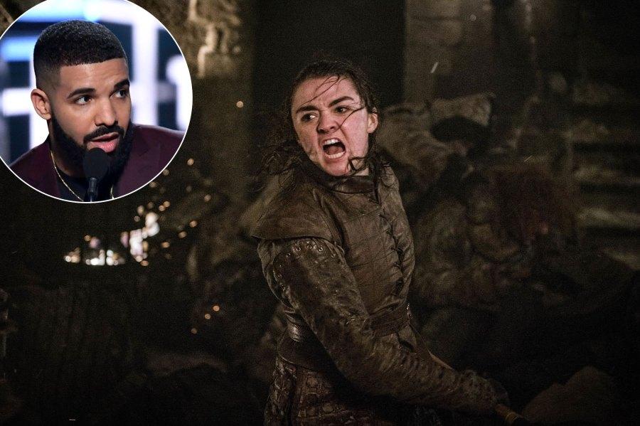 Drake and Maisie WilliamsGOT Billboard Music Awards 2019