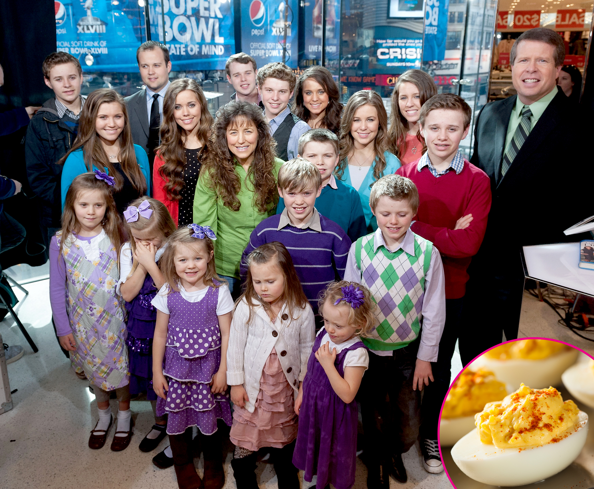 """Duggars-and-deviled-eggs - The reality TV family caused a bit of a stir in April 2019 when it was revealed that they've literally taken the """"devil"""" out of deviled eggs. Instead of calling the popular party appetizer by its given name, the ever-expanding Christian clan refers to the dish as """"yellow pocket angel eggs."""""""