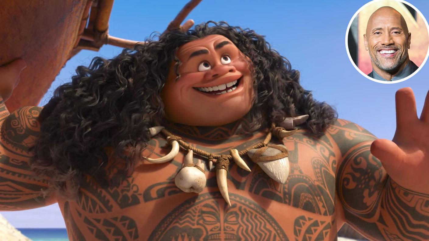 Dwayne Johnson Maui Moana Voice Over Disney and Pixar Characters - Maui in Moana (2016)