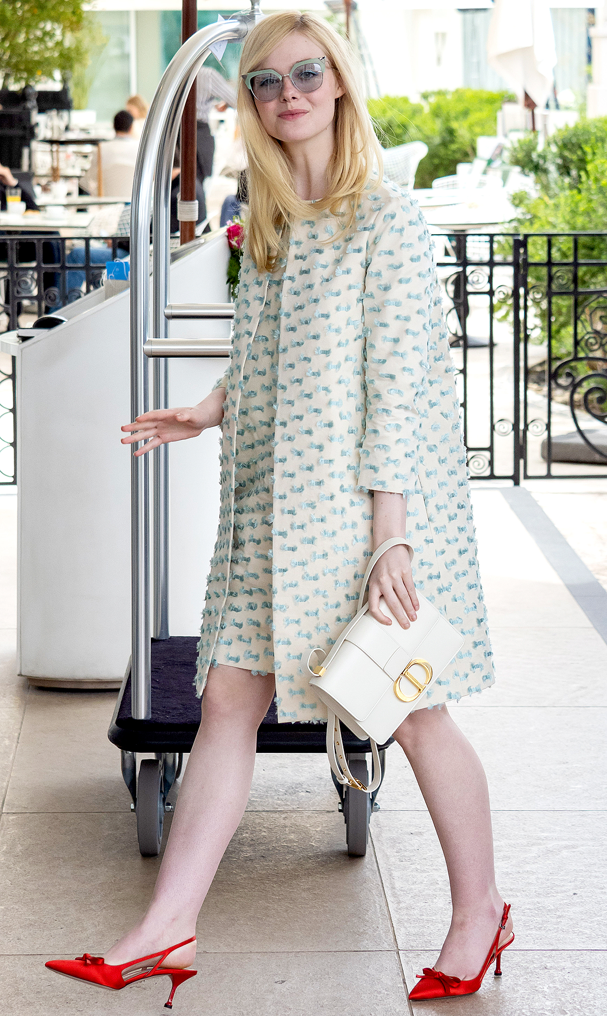 Elle-Fanning - It was all about the retro vibes for the blonde beauty in head-to-toe Dior.