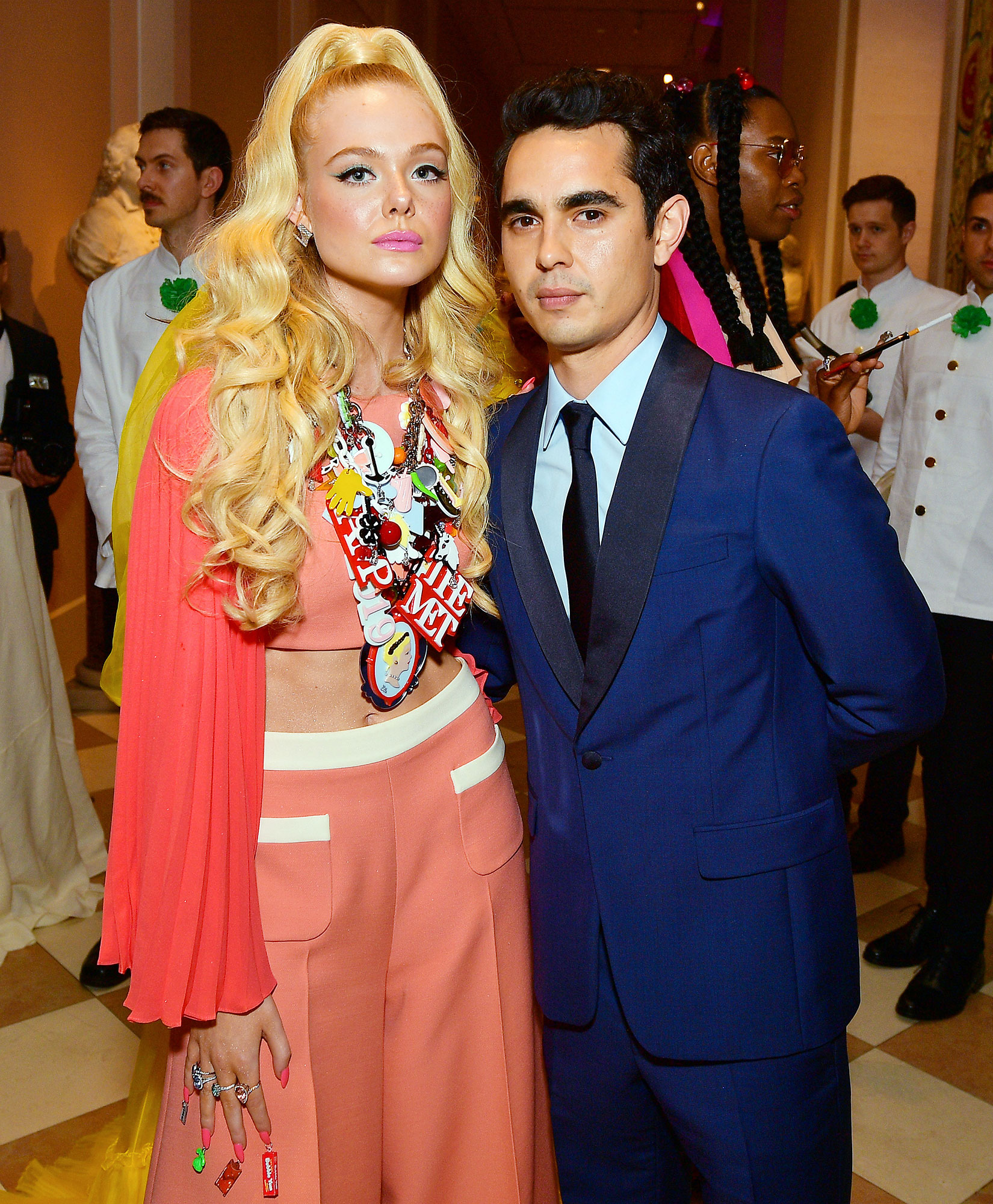 Met Gala 2019 What You Didnt See Elle Fanning Max Minghella - Rumored couple Elle Fanning and Max Minghella played it cool inside the cocktail hour.