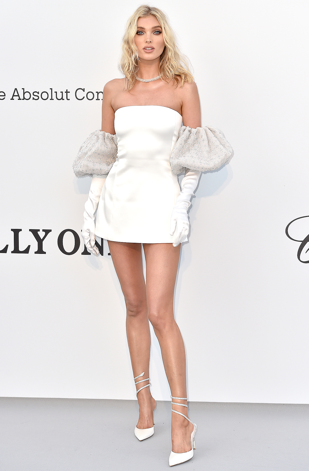 Elsa-Hosk - The Victoria's Secret Angel kept things short and sweet in her mini Redemption number at the amfAR Cannes Gala on Thursday, May 23.