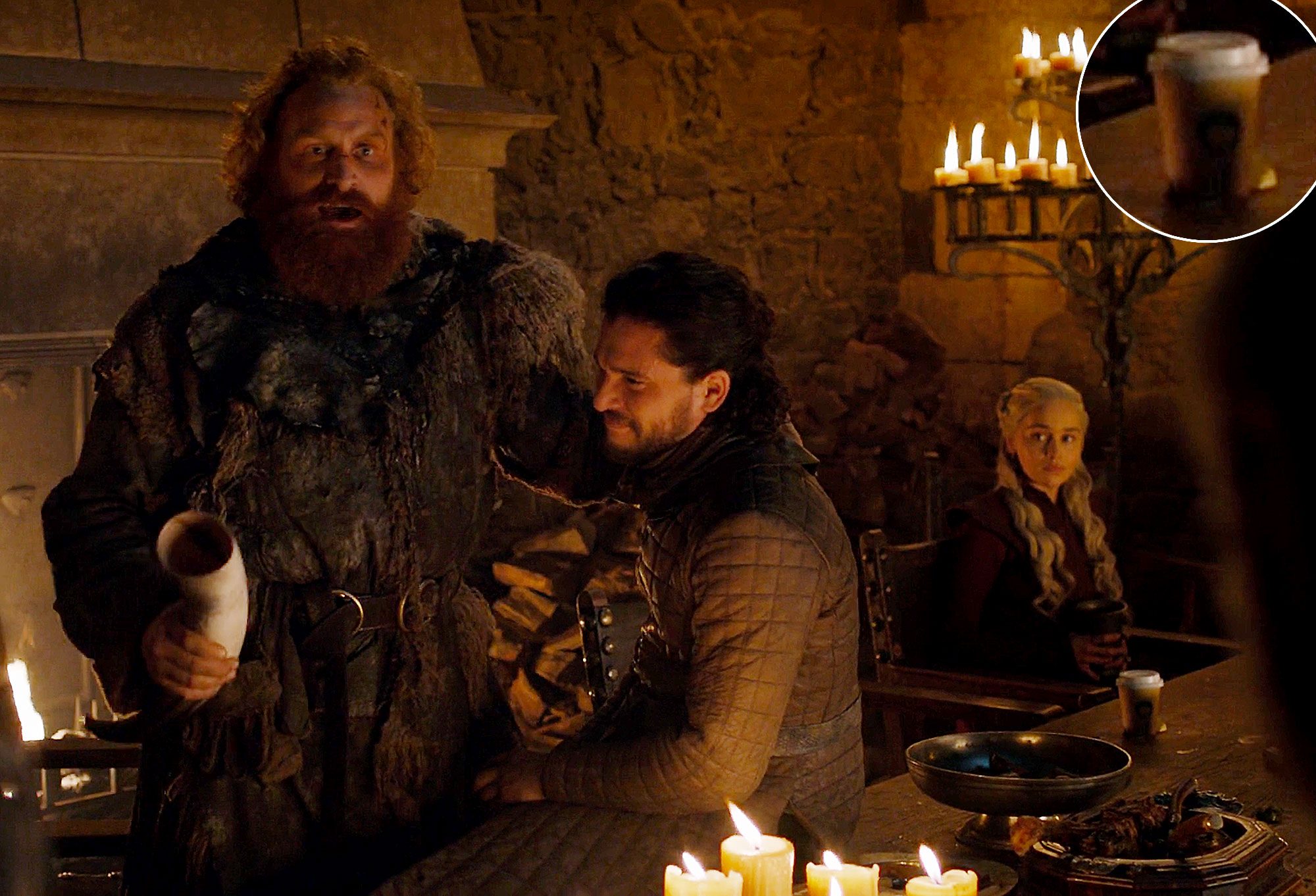 Game of Thrones Starbucks Cup On Camera Season 8 Episode 4