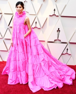 Gemma Chan Loves Red Carpet Dress With Pockets