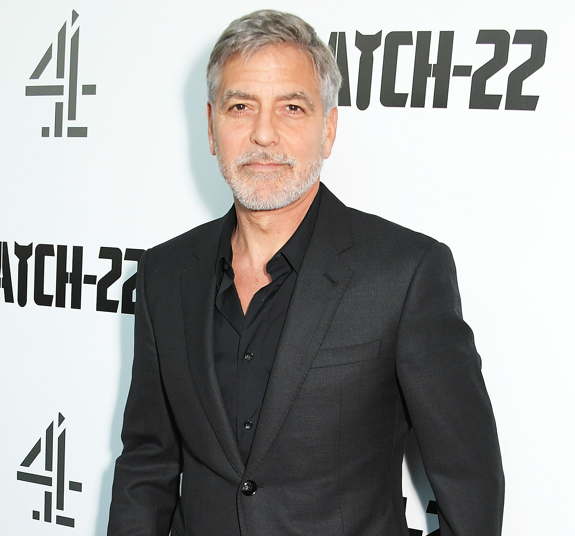 George Clooney Motorcycle Crash Die - George Clooney attends the London Premiere of new Channel 4 show 'Catch-22' at Vue Westfield on May 15, 2019.