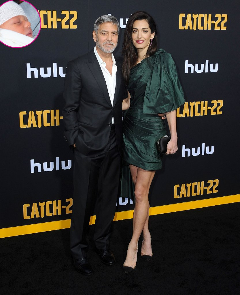 George Clooney and Amal Clooney and Archie