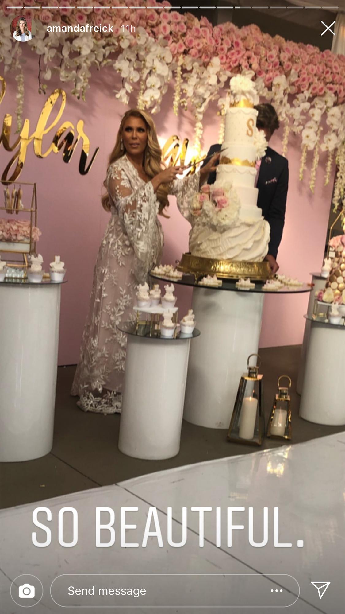 Gretchen Rossi Celebrates Baby Shower - Dessert is served, thanks to Rossi!