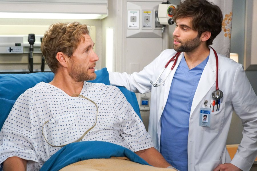 Grey's Anatomy Recap Brett Tucker and Jake Borelli