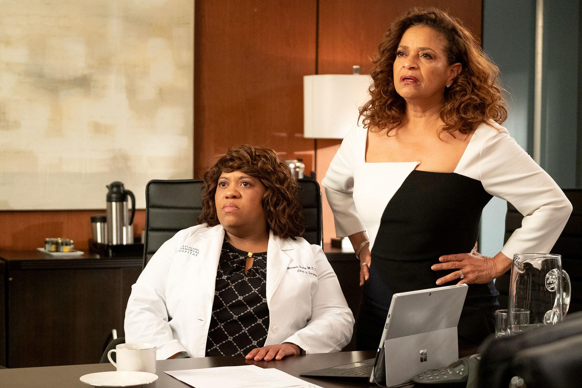 Grey's Anatomy Recap Chandra Wilson and Debbie Allen - Chandra Wilson and Debbie Allen during an episode of 'Grey's Anatomy.