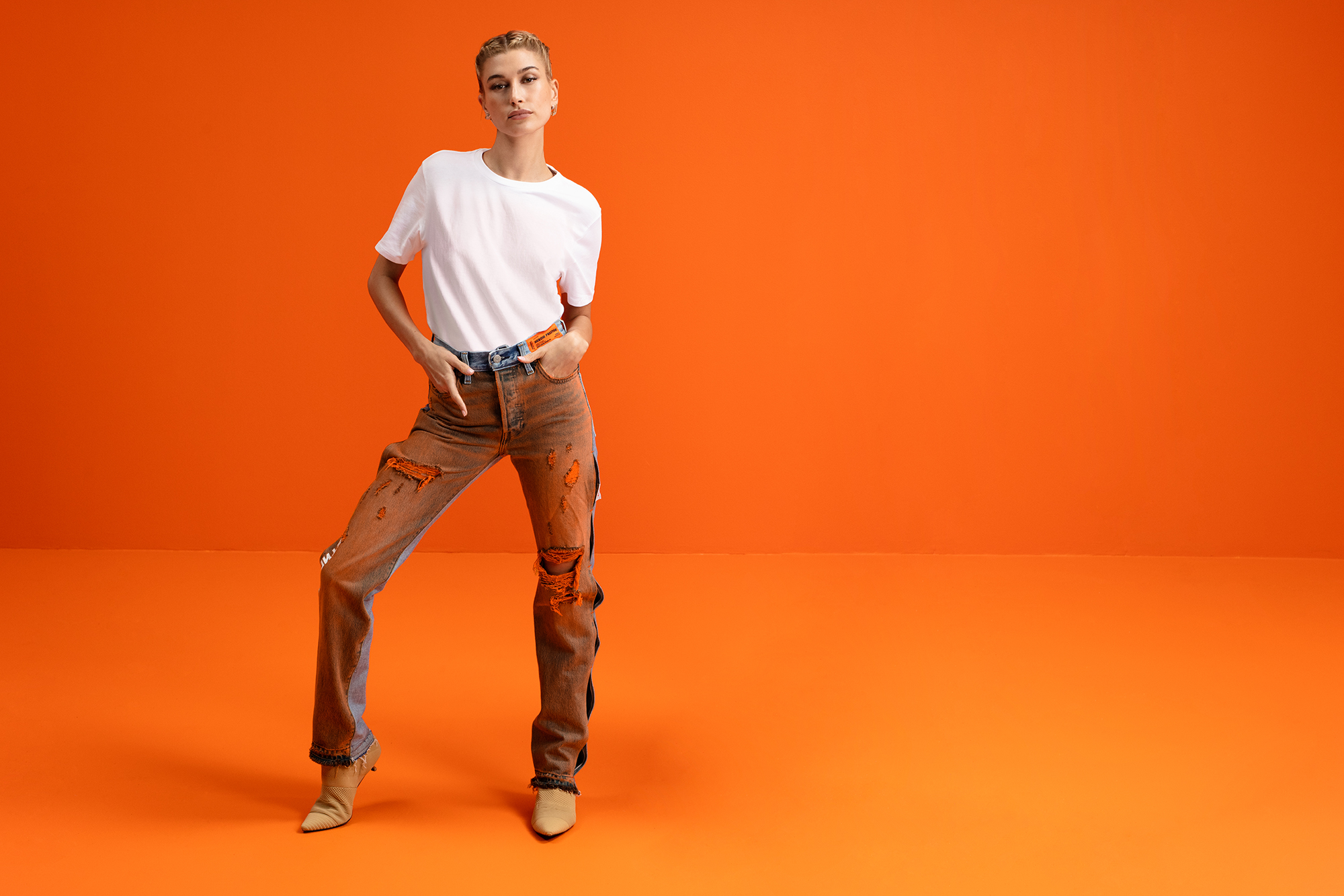 Hailey Bieber Levi's x Heron Preston Denim Campaign - Hailey Bieber