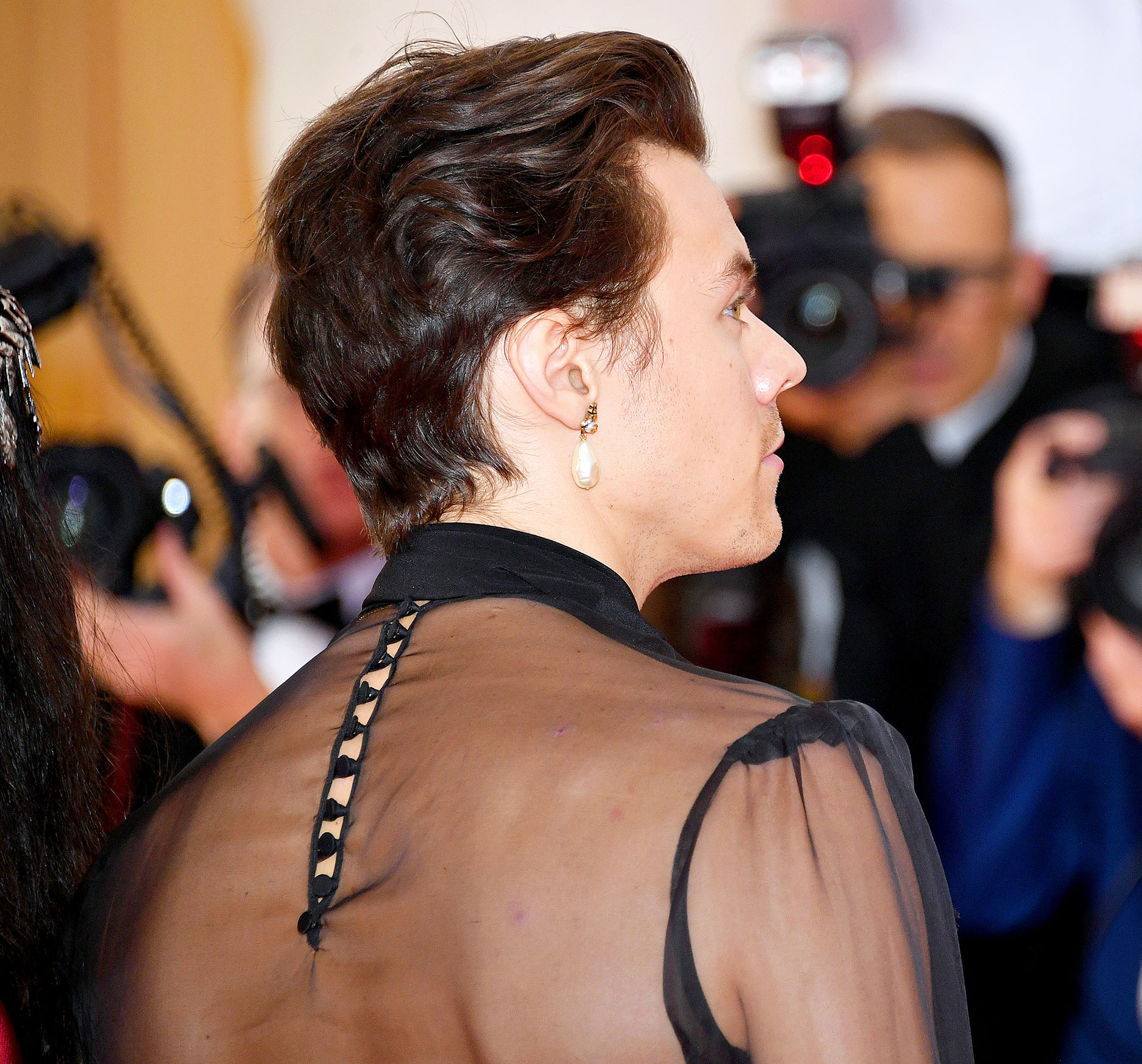 1bfef5eb5 Met Gala 2019: Harry Styles Wears Sheer Gucci Blouse