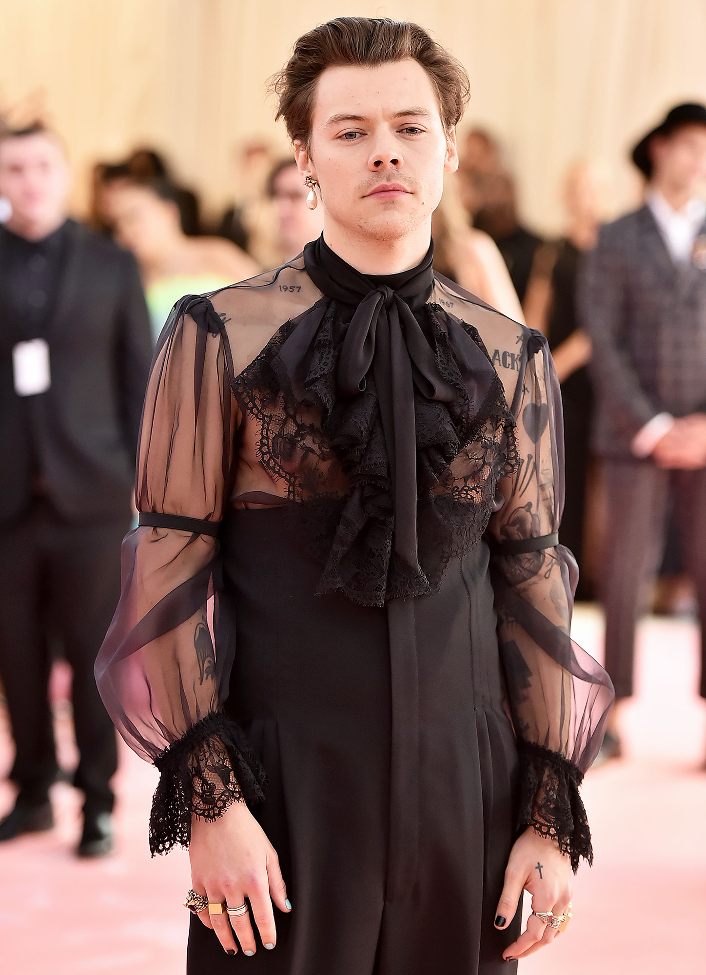 Met Gala 2019: Harry Styles Wears Sheer Gucci Blouse