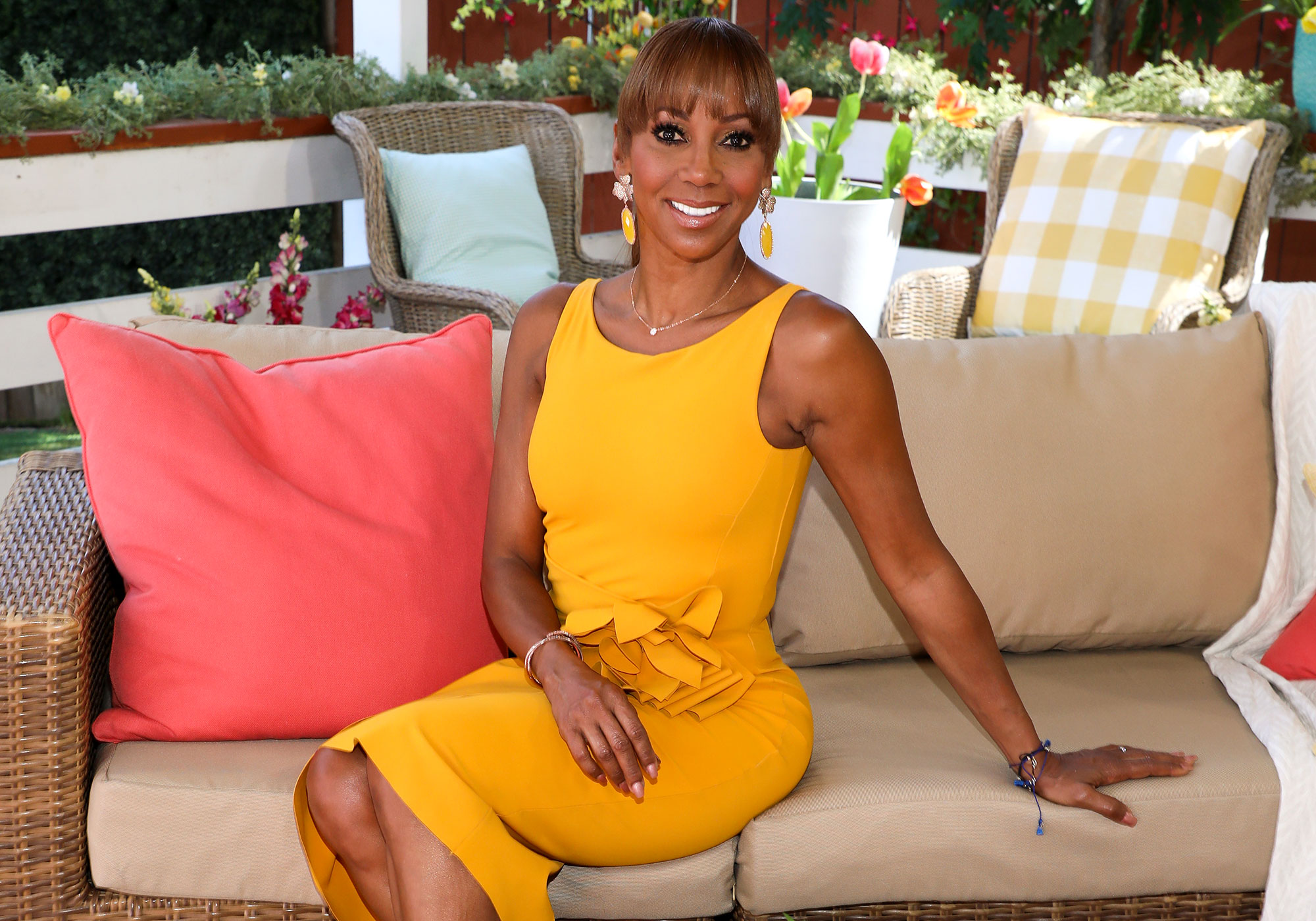 """Advice From Mothers Holly Robinson Peete - """"When I had twins, she told me to get them on the same schedule. So I had these two babies and get them to sleep on the same schedule, and you gotta be hardcore, you gotta be really gangster about it,"""" the actress quips to Us . """"It's one thing to let one baby cry, but when two babies are crying at the same time, it crushes your soul. But she was like, 'You gotta be hardcore,' and she did a lot of it for me. She's like, 'You go away. You go away. You can't handle. You're lactating, and you just go away.' So the best advice was just, 'Get those kids together so you can get some sleep.'"""""""