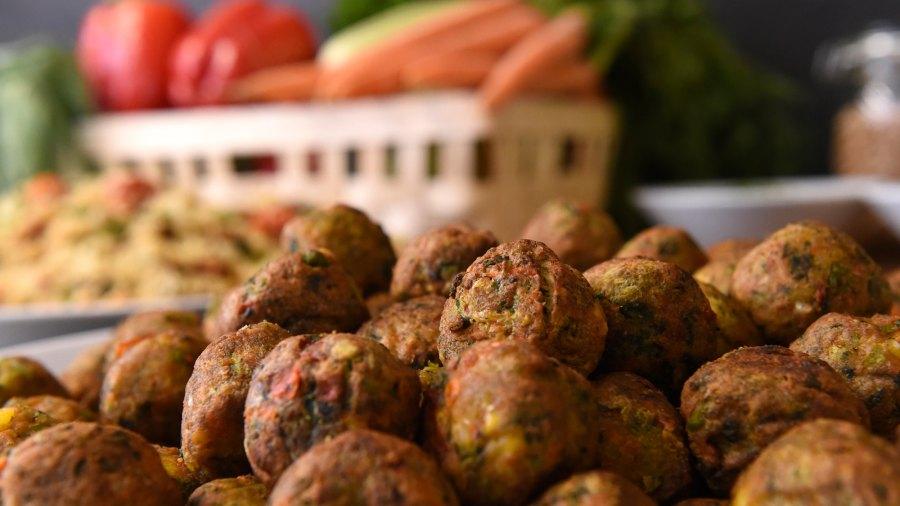 IKEA's Vegan 'meatballs' in Brussels.