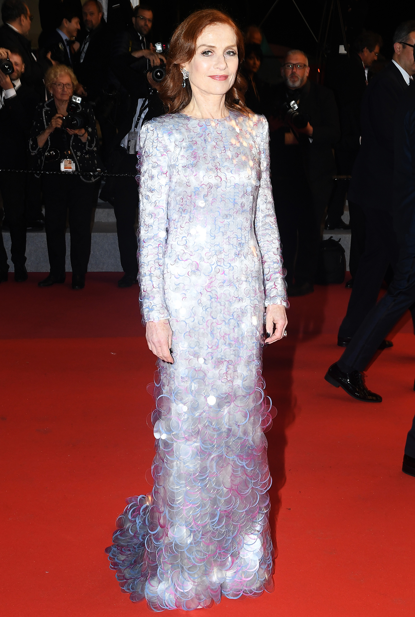 Isabelle-Huppert - The Frankie star stunned in a long-sleeve embellished gown at the film's premiere on Monday, May 20.