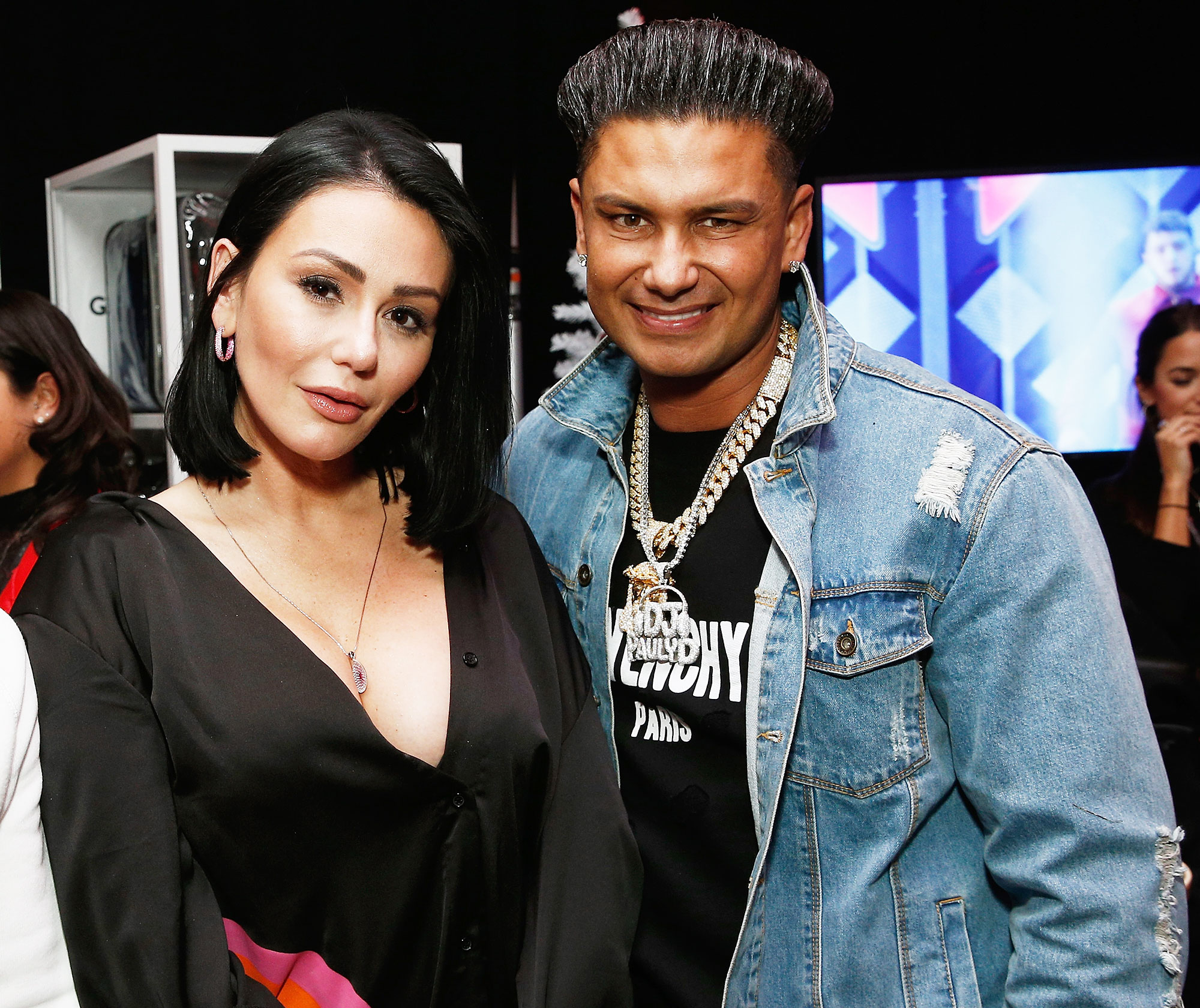 JWoww Pauly D Excited New Boyfriend Roger Mathews Divorce - Jenni 'JWoww' Farley and Pauly D attend Z100's Jingle Ball Gift Lounge at Madison Square Garden on December 7, 2018 in New York City.