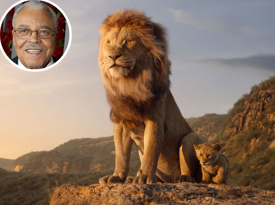 James Earl Jones Mufasa Lion King Voice Over Disney and Pixar Characters - Mufasa in The Lion King (1994 and 2019)