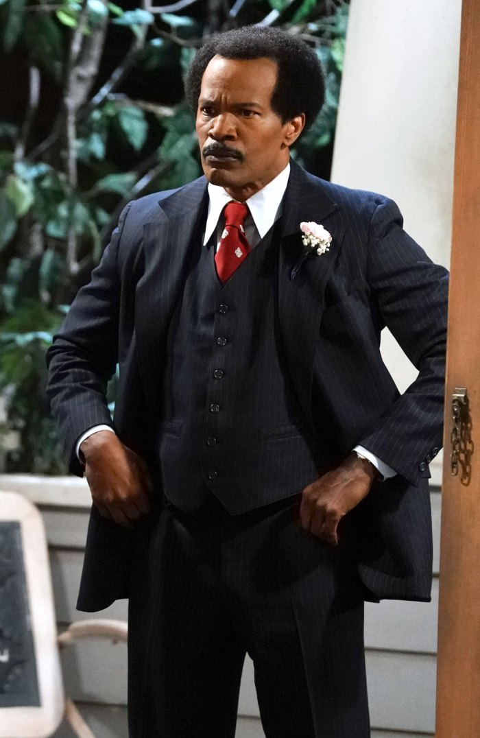 Jamie Foxx Flubs Line and Breaks Character as George Jefferson on 'All in the Family' Live Special
