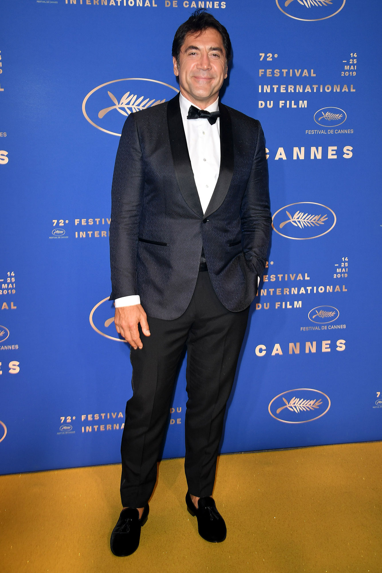 Javier Bardem Cannes Film Festival 2019 Most Stylish Guys Red Carpet - Black and blue made made a perfect pair on the actor at the Gala Dinner on Tuesday, May 14.