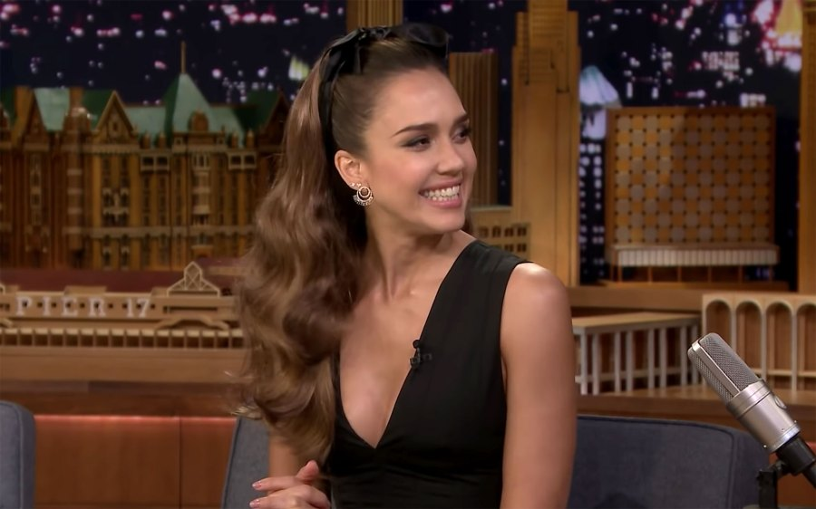 Jessica Alba Son Cuter Than Daughter on Jimmy Fallon