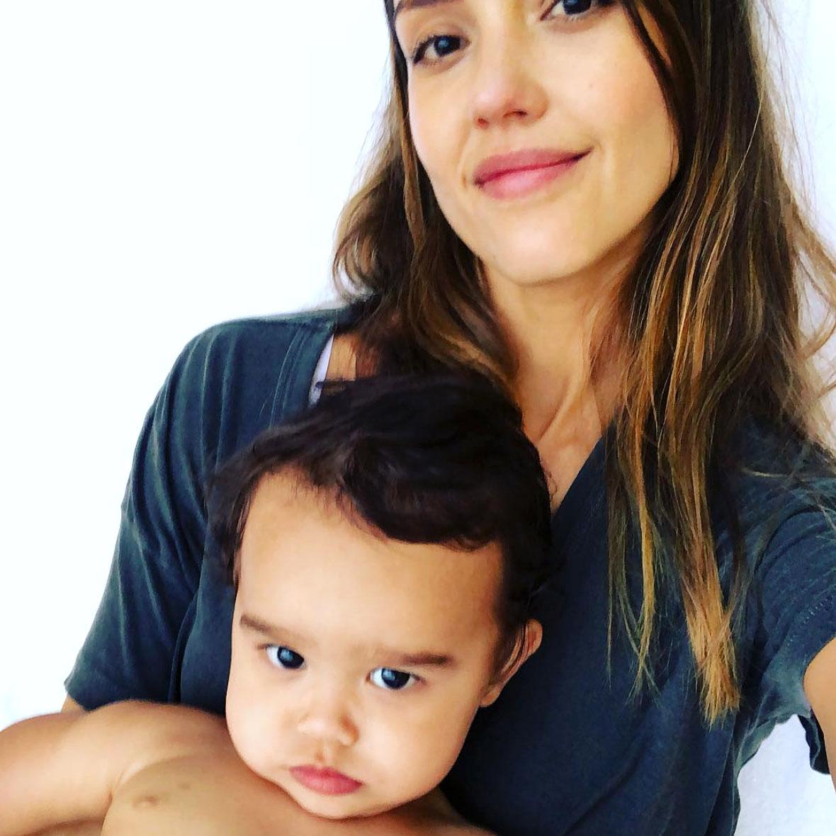 Jessica Alba and Son Cuter Than Daughters - Jessica Alba