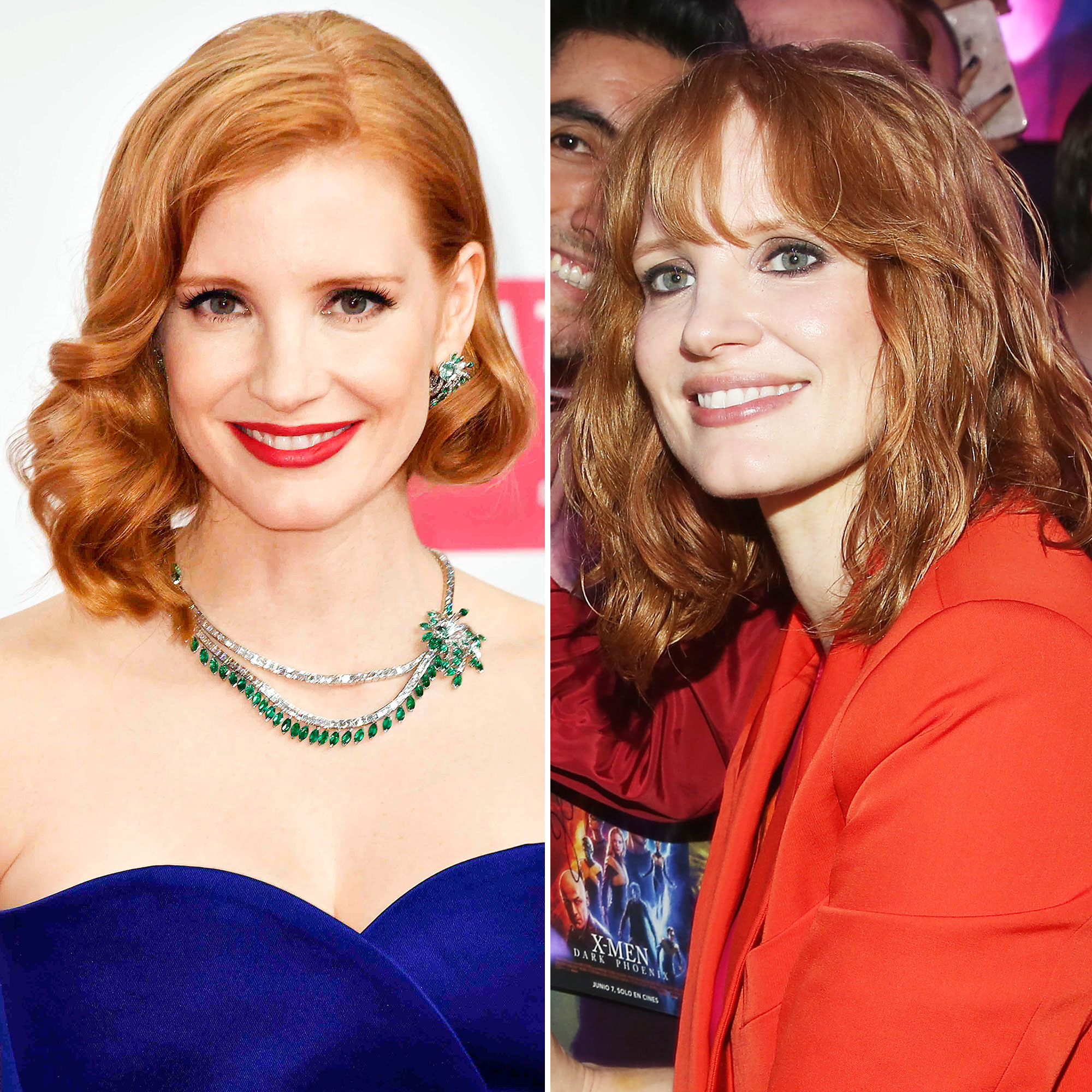 Jessica Chastain Celebrity Hair Transformation - Thanks to celeb stylist Renato Campora, the X-Men: Dark Phoenix star got a little snip before the film's Mexico City event on May 14, 2019.
