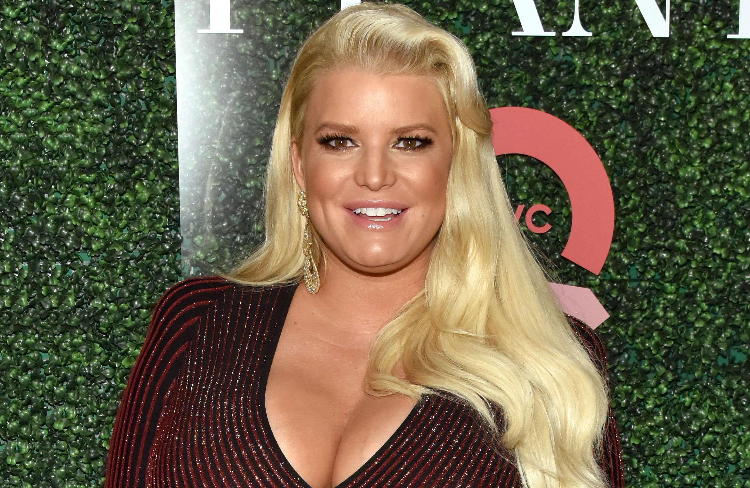 """Jessica Simpson Spends Mother's Day 2019 'Hormonally Crying' 25th Annual QVC """"FFANY Shoes on Sale"""" Gala - Jessica Simpson attends the 25th Annual QVC """"FFANY Shoes on Sale"""" Gala at The Ziegfeld Ballroom on October 11, 2018 in New York City."""