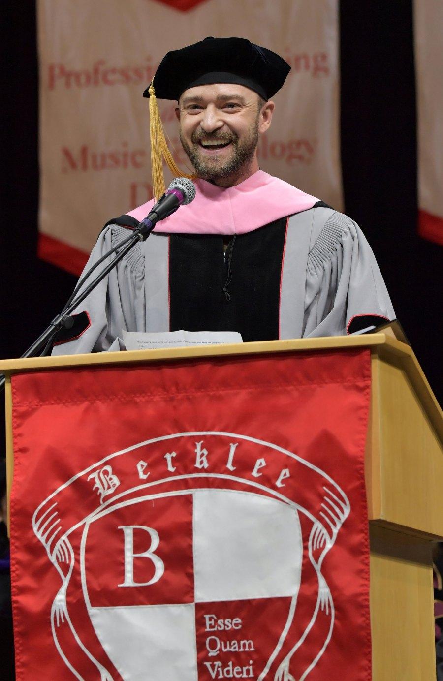 Justin Timberlake Stars With Honorary Degrees