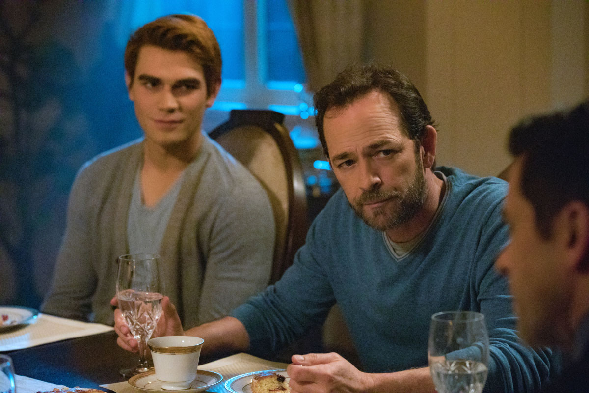 KJ Apa on Mentor Luke Perry Riverdale - KJ Apa as Archie and Luke Perry as Fred in an episode of 'Riverdale.
