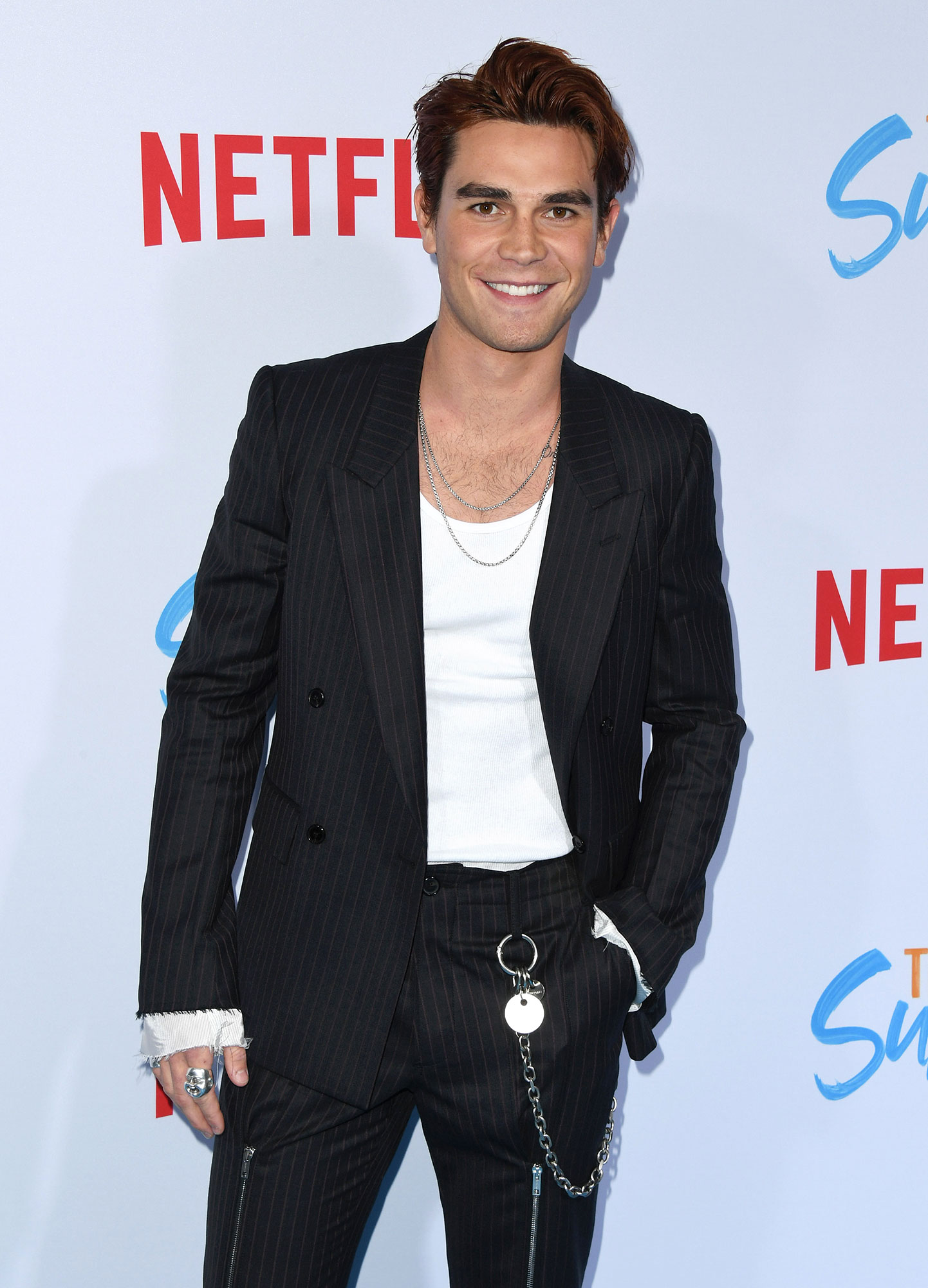 """KJ Apa on Mentor Luke Perry - KJ Apa attends the Special Screening Of Netflix's """"The Last Summer"""" at TCL Chinese Theatre on April 29, 2019 in Hollywood, Calif."""
